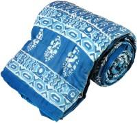 Little India Bandhani Print Cotton Single Bed Razai Quilt 114 Modern Ethnic Quilt Single