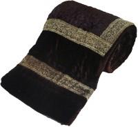 Little India Jaipuri Dark Brown Double Bed Velvet Quilt Modern Ethnic Quilt Double