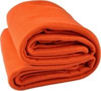 Kema Plain Single Blanket Orange Fleece Blanket, Polar Fleece Blanket