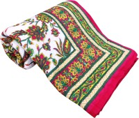 Artisan Creation Floral Double Quilts & Comforters Pink, Green, White 1 Double Bed Quilt