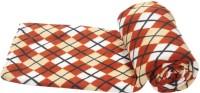 Vertex Geometric Single Fleece Blanket Orange