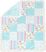 Abracadabra Couture Patchwork Baby Blanket Aqua Sky