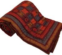 Little India Jaipuri Print Cotton Double Bed Razai Quilt Modern Ethnic Quilt Double