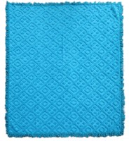 Saral Home Geometric Double Fleece Blanket Turquoise