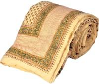 Little India Sanganeri Print Pure Cotton Single Bed Razai 321 Modern Ethnic Quilt Single