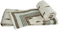 Indian Gift Emporium Damask Double Quilts & Comforters White, 2 Single Bed Quilt