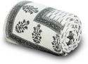 UFC Mart Handblock Grey Print Cotton Comforter - Double
