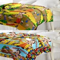ECraftIndia Set Of Chota Bheem Design AC (Dohar) Graphic Single Blanket (Fallalin, Multicolor)