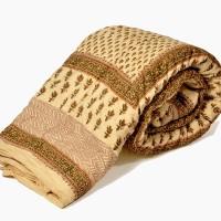 Little India Jaipuri Block Print Cotton Double Bed Quilt Modern Ethnic Quilt Double