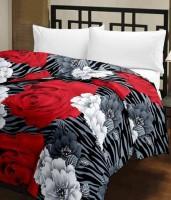 Ayushi Craft & Fashions B R W Flowers Printed Single Blanket (Fallalin, Multicolor)