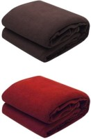 RS Quality Plain Single Blanket Brown