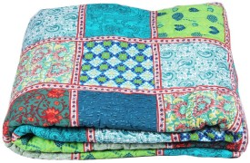Jaipurtextileshub Checkered Double Quilts & Comforters Multicolor
