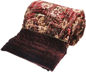 Me Home Damask Single Quilts & Comforters Maroon