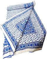Shop Avenue Blue Floral Print Quilt Printed Single Comforter (Blue)