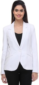 Kotty Solid Double Breasted Formal Women's Blazer