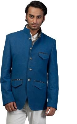 Fashion Fashion Style Solid Single Breasted Formal Men's Blazer (Blue)