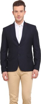 Ennoble Solid Single Breasted Casual Men's Blazer - BZRED7CNZHJEBACQ