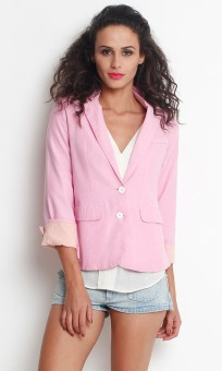 Thegudlook Solid Boyfriend Formal Casual Women Blazer