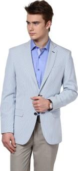 Givo Striped Single Breasted Casual Men's Blazer