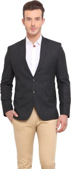 Ennoble Checkered Single Breasted Casual Men's Blazer - BZRED7CNMYEWMGJV