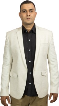 Blackthread.in Solid Single Breasted Wedding, Party, Formal, Festive, Casual Men's Blazer