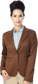 Van Heusen Solid Single Breasted Formal Women's Blazer