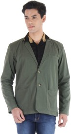 FIFTY TWO Solid Single Breasted Casual Men's Blazer