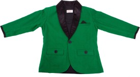 Fbbic Solid Single Breasted Casual Boy's Blazer