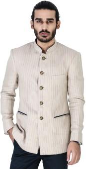 Mr Button Striped Single Breasted Casual Men's Blazer