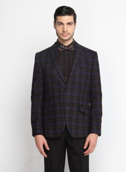 SUITLTD Checkered Single Breasted Casual Men's Blazer