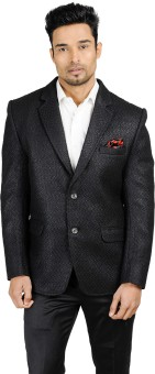 English Channel Self Design Single Breasted Blazer Formal Men's Blazer - BZRE3G2F6YTCBMSK