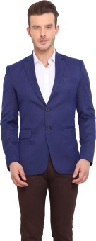 Ennoble Solid Single Breasted Casual Men's Blazer - BZRED7CNBHZ2XUSH