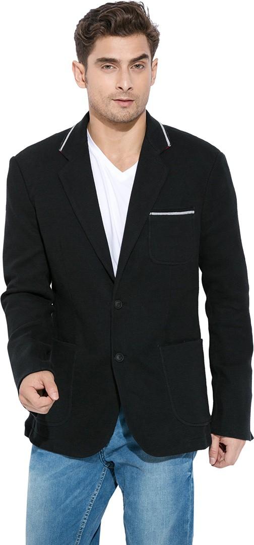 Mufti Solid Tuxedo Style Casual Men