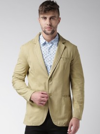 Mast & Harbour Woven Single Breasted Casual Men's Blazer