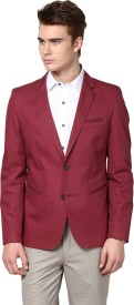 Givo Solid Single Breasted Casual Men's Blazer