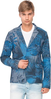 The Indian Garage Co. Floral Print Single Breasted Casual Men's Blazer