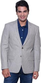 Astitva Striped Single Breasted Casual Men's Blazer