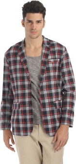 Zobello Checkered Single Breasted Casual Men's Blazer - BZRE9GZHGDGNRTYQ