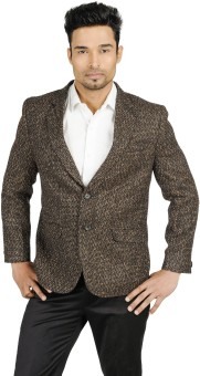 English Channel Self Design Single Breasted Blazer Formal Men's Blazer