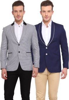 Ennoble Solid Single Breasted Casual Men's Blazer - BZREDM42UTJ2VYZV