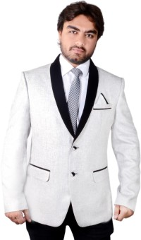 Menjestic Solid Tuxedo Style Wedding, Party, Casual, Festive, Formal Men's Blazer
