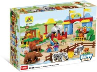 Toys Bhoomi Big City Zoo Block Building Set - 92 Pieces (Multicolor)