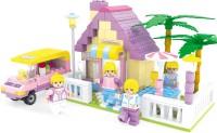 Funblox 270pcs Fairy Land Blocks-Big House With Car (Multicolor)