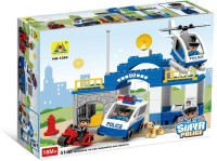 Toys Bhoomi Super Police Station Block Building Set - 51 Pieces (Multicolor)