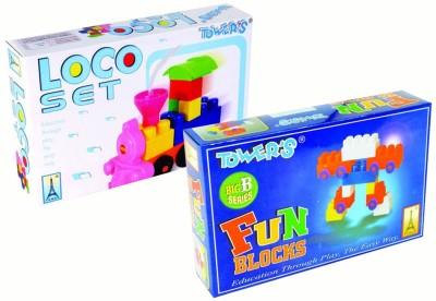 Towers Blocks & Building Sets Towers Loco & Fun Block Combo