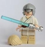 Star Wars Blocks & Building Sets Star Wars Lego Mini Luke Skywalker With Grey Visor On Head Helmet
