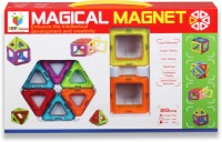 Building Mart 20 Piece Magical Magnetic Building Blocks Learning Toy Set (Multicolor)