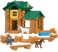 K'Nex Lincoln Logs Sunnyfield Stable Building Set (Multicolor)
