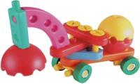 AND Retails 50 Pieces Junior Engineer Construction-Vehicles Building Blocks Set (Multicolor)