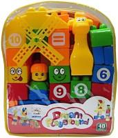 Turban Toys 35pcs. Building Blocks For Kids (Multicolor)